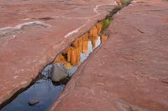 (rossbysmom) Tags: color reflection water digital rocks sedona cathedralrock redrockcrossing sedonaaz nikon18200mm nikond7000 whatvortex