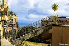 (atrialbyfire) Tags: sea italy plants cloud seascape verde green clouds stairs landscape italia nuvole mare nuvola balcony napoli naples scala piante balcone