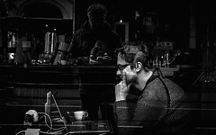 Bar-Office (Remuz59Photography) Tags: monochrome amsterdam streetphotography streetphoto