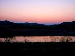 sunset river (somazeon) Tags: japan river lumix twilight panasonic  tottori  m43 lumixgx7