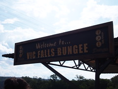 Victoria Falls bridge, the no-mans-land between Zambia and Zimbabwe (little_duckie) Tags: africa zimbabwe bungy bungee zambezi bungyjump zambeziriver 111metres