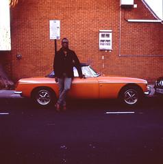(holloway steve) Tags: london fuji mg hasselblad velvia velvia100 islington mgb roadster 500cm theworldneedsmoreorange