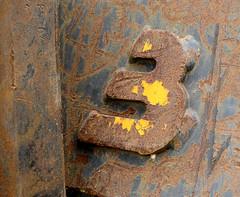 [three] (pienw) Tags: 3 three rust rusty digit