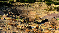 Assos Ancient Cities - Amphitheater (Feridun F. Alkaya) Tags: turkey greek ancient ngc historical assos asos anfitheatre behramkale assus ἄσσοσ