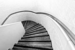 Stairwave (DobingDesign) Tags: wood blackandwhite abstract brick texture geometric lines stairs steps minimal staircase inside curve brickwork interiorarchitecture
