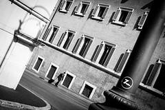 [ Z ] ([ chang ]) Tags: street light shadow people blackandwhite bw white black rome roma byn blanco luz window person persona shot gente negro ombra sombra bn persone finestra shade palo bianco nero luce quirinale streetshot finestre wwwriccardoromanocom