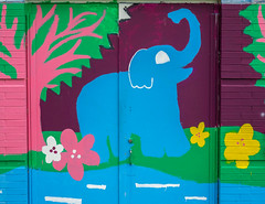 Wall Mural. Day 121 (RPStrick) Tags: trees elephant wall painting mural olympus jungle f28 1240