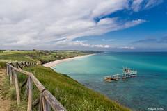 Abruzzo.,,,,,,, (Lupogrande25) Tags: blue sea sky italy beach grass clouds spring ngc abruzzo adriaticsea fishingmachine nikond610 sigma24105f4art