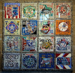 Quilt No. 1 (NJ Baseball) Tags: seattle art washington mariners safecofield licenseplates seattlemariners americanleague 2015 daygame majorleagues