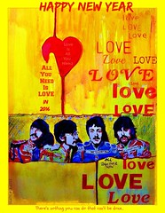 All You Need Is LOVE Is All You Need (Sallanches 1964) Tags: love photoshop allyouneedislove digitalreworked coloredpencildrawings lennonmccartneylyrics beatlessongsillustrated