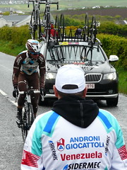 Been In The Wars (mdavidford) Tags: sport race cycling torn bushmills stage2 giroditalia supportcar soigneur whiteparkroad ag2rlamondiale andronigiocattoli patrickgretsch