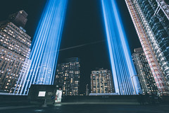 (Jon Fleurant) Tags: new york city nyc light 3 canon jon downtown mark manhattan 5d tribute tributeinlight 1740l fleurant jonfleurant