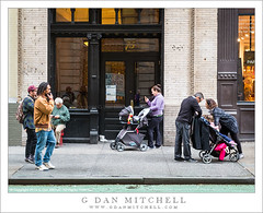 Manhattan Sidewalk Scene (G Dan Mitchell) Tags: street city people newyork building photography manhattan scene sidewalk strollers
