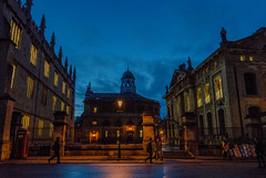 Oxford at night (Iustin Ouatu) Tags: street uk longexposure red england night outdoors high lowlight nikon university raw outdoor famous streetphotography historic iso fave explore oxford historical radcliffe highlife discover d3200 vsco streetraw jawdroppingshots nikontop discoveron outstandingrmanianphotographers