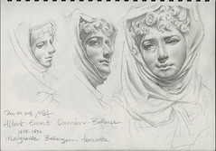 Drawing at the National Gallery of Art - Marguerite Bellanger (20151220) (Zee Hoy Leung's Visual Archive) Tags: sculpture france pencil paper french terracotta bust nationalgalleryofart 1865 1870 alberternestcarrierbelleuse graphitepencils margueritebellanger