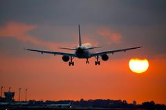 VUELING, Airbus 320 (Josep Oll) Tags: barcelona sunset plane contraluz atardecer aircraft bcn landing fotos airbus avin spotting reactor a320 aviones crepsculo elprat pasajeros aterrizando vueling lebl lebl210116