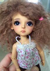 Lulu Out to Play (Chassy Cat) Tags: yellow momo doll tan sp bjd resin custom ts latidoll faceup lati tanskin minijijo nomyens