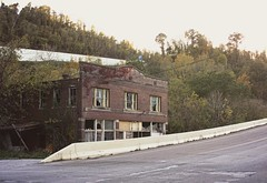 Beside the Viaduct (~ Liberty Images) Tags: history abandoned architecture america forsaken deserted abandonment us40 bereft emptybuilding nationalroad belmontcounty libertyimages blaineoh