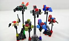 Veritech Guardian Micros (Deltassius) Tags: war lego space military micro scifi orbit veritech intercept mfz