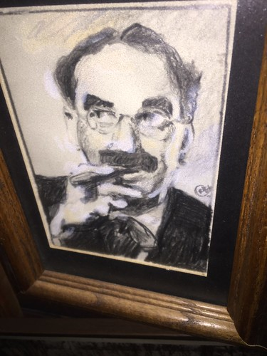 Groucho Marx drawing by Chris Fleck.