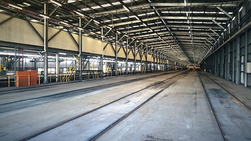 Quiet when the trains are out - Hornsby Maintenance Centre.