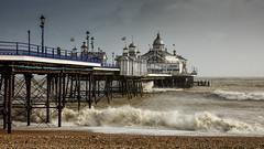 Eastbourne Pier (Eddie Hyde) Tags: storm beach sussex pier eastbourne imogen