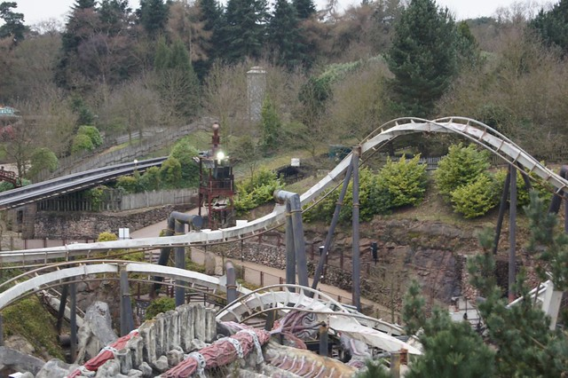 A look at Nemesis from the top of Air's lift hill