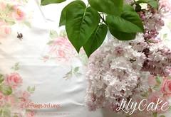 May Day Roses in peony (lilyoake) Tags: roses summer bee mayday lilacs pinkandwhite
