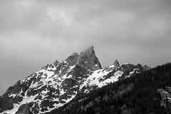 Teewinot mono (RPahre) Tags: blackandwhite mountain monochrome wyoming grandtetons seeingdouble grandtetonnationalpark teewinot