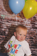 Birthday Boy (Proper Photography) Tags: birthday boy baby cute brick canon balloons 50mm toddler colorful child adorable backdrop littleboy 50mm18 canon7d