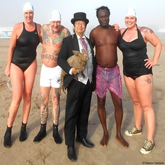 Dr. Takeshi Yamada and Seara (Coney Island Sea Rabbit) at the winter swimming event by the Coney Island Polar Bear Club at the Coney Island Beach in Brooklyn, New York on January 10 (Sun), 2015.  mermaids and mermen. 20160110Sun DSCN3363=pC1 Coney Island (searabbits23) Tags: winter ny newyork sexy celebrity art beach fashion animal brooklyn asian coneyisland japanese star yahoo costume tv google king artist dragon god cosplay manhattan wildlife famous gothic goth performance pop taxidermy cnn tuxedo bikini tophat unitednations playboy entertainer samurai genius donaldtrump mermaid amc mardigras salvadordali billclinton hillaryclinton billgates aol vangogh curiosities bing sideshow jeffkoons globalwarming takashimurakami pablopicasso steampunk damienhirst cryptozoology freakshow barackobama polarbearclub seara immortalized takeshiyamada museumofworldwonders roguetaxidermy searabbit ladygaga climategate