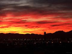 McCarran International Airport Sunrise... (Diana O'Bryan White (missouridko)) Tags: morning orange yellow skyline sunrise landscape dawn airport lasvegas nevada mccarranairport mccarraninternationalairport lasairport tropicanalasvegashotel