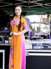 Vietnamese traditional long dress (I Am Camera-man) Tags: show art festival model sigma melbourne ground f18 lunar 1835mm canon7d