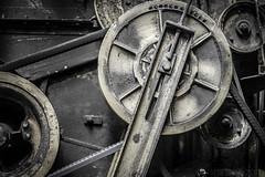 Machinery II (#Weybridge Photographer) Tags: slr wheel metal canon eos 350d belt farm wheels machine belts machinery adobe dslr lightroom