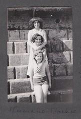 Mummy Barbie and I (Bury Gardener) Tags: uk england blackandwhite bw vintage seaside oldies