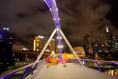 Pedestrians watch your step (dmunro100) Tags: longexposure bridge night canon river eos cityscape australia melbourne victoria yarra padlock lovelock southgate canonefs1755mmf28isusm 60d