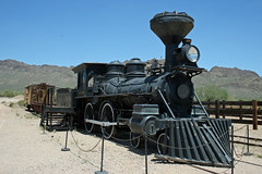 Steam engine 11 (Reno) at the old Tucson film studios (Dave Russell (1 million views thanks)) Tags: old railroad wild arizona west film train studio cowboy tucson loco 11 steam western vehicle locomotive reno studios