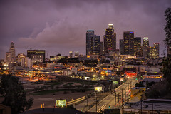 LA from Elysian Park (fhoerr) Tags: sunset urban outdoors losangeles twilight cornfield neon chinatown nightshot cityhall broadway rail downtownla dtla goldline atdusk downtownlosangeles laskyline nikond610 fredhoerr fhoerr
