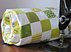 Green Quilt (Cotton Cellar) Tags: baby modern quilt patchwork checkerboard