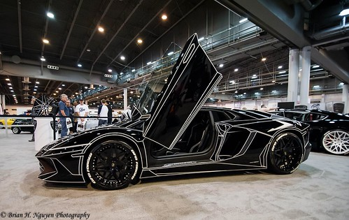 Lamborghini Aventador Black Tron