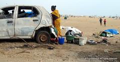 BEACH LIFE (Frontispiece) Tags: poverty sea india beach seaside madras oldcar marinabeach chennai southindia