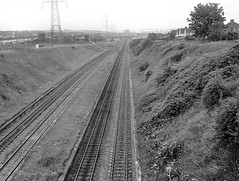 Horfield station, 1977 (Blue-pelican-railway) Tags: film station bristol closed railway horfield beeching