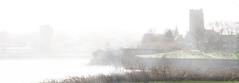 River Mist Widnes (foggyray90) Tags: church backlight river westbank mersey runcorn widnes halton stmaryswidnes