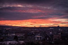 A Cinematic Sunset / Un ciel de cinma... (Gilderic Photography) Tags: city sunset sky clouds canon eos cityscape belgium belgique belgie ciel nuages cinematic liege ville 500d gilderic