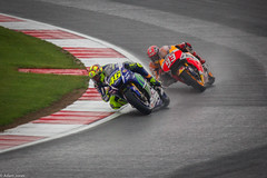 Rossi leads Marquez (Jnzy1990) Tags: world wet rain race canon eos championship kiss bikes racing motorbike silverstone lorenzo motorcycle motogp 93 rossi x4 46 marquez 550d crutchlow vr46 moto2