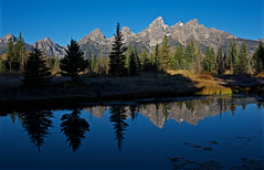 Reflections of Shadows and Light (steve.myler) Tags: mountains nature water reflections landscape outdoors tetons schwabacherslanding