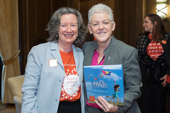 Author Dominique Browning and EPA Administrator Gina McCarthy