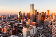 Dallas (kellyandjaffe) Tags: sunset tower us dallas cityscape texas unitedstates reuniontower dallasskyline