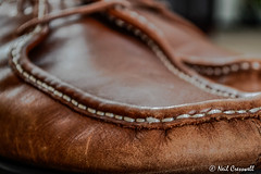 If The Shoe Fits (crezzy1976) Tags: brown detail leather nikon shoes indoor wear photoaday worn 365 cracks day42 ordinary stiching henrilloyd d3100 crezzy1976 photographybyneilcresswell 366challenge2016