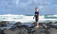 Rock hopping (judith511) Tags: boy beach rocks surf child rockpools